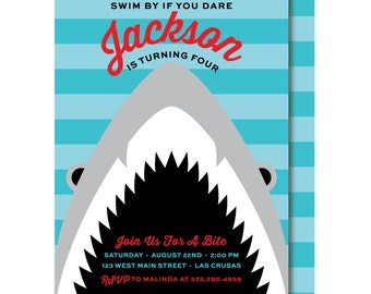 INSTANT DOWNLOAD Shark Birthday Party Package Shark