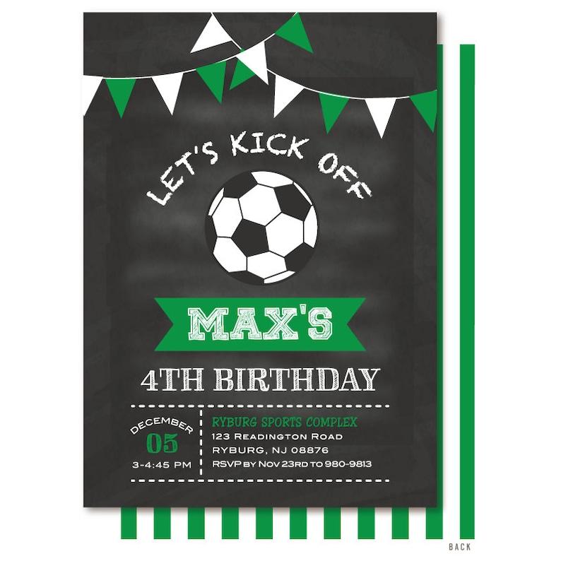 Uitnodiging Voor Voetbal Voetbal Verjaardag Uitnodigen Etsy