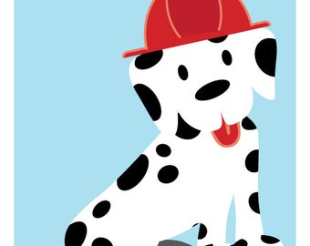 INSTANT DOWNLOAD - Pin the Tail on the Puppy, Fire Truck Dalmatian Games, Fireman Birthday Games