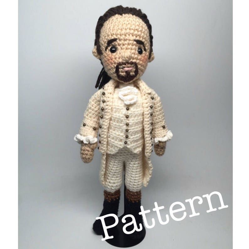 PDF Alexander Hamilton Musical Amigurumi Crochet doll Pattern