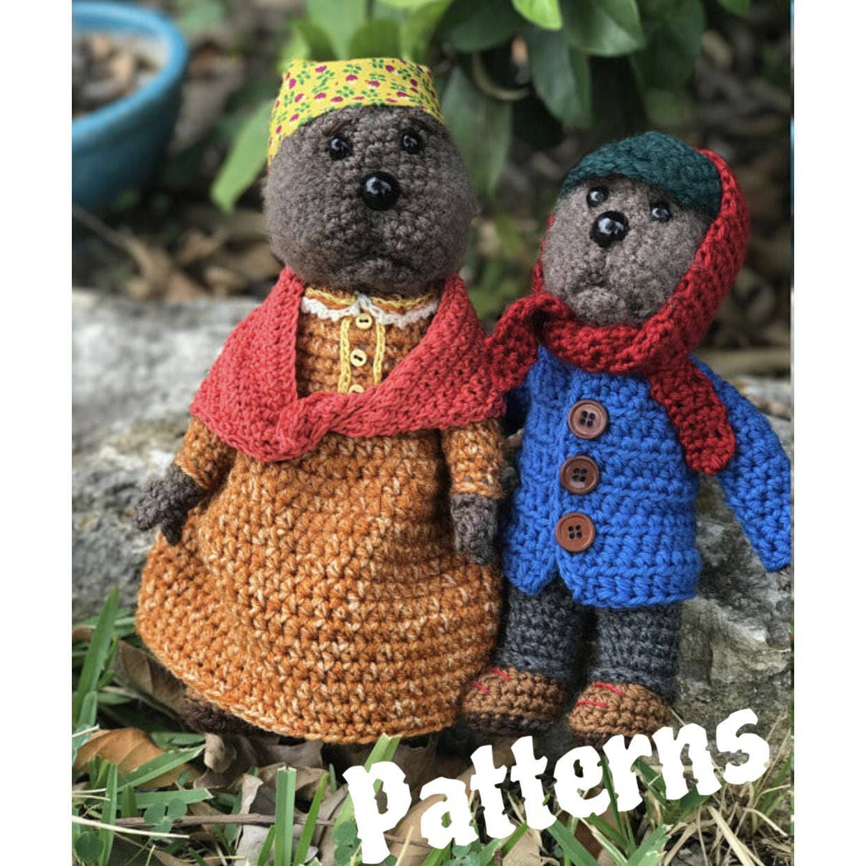 PDFs Emmet Otter Ma Otter Crochet doll PATTERNS set inspired | Etsy