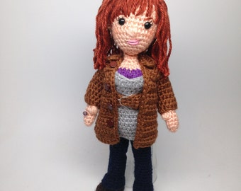 Donna Noble Doctor Who Companion Amigurumi Crochet doll Pattern