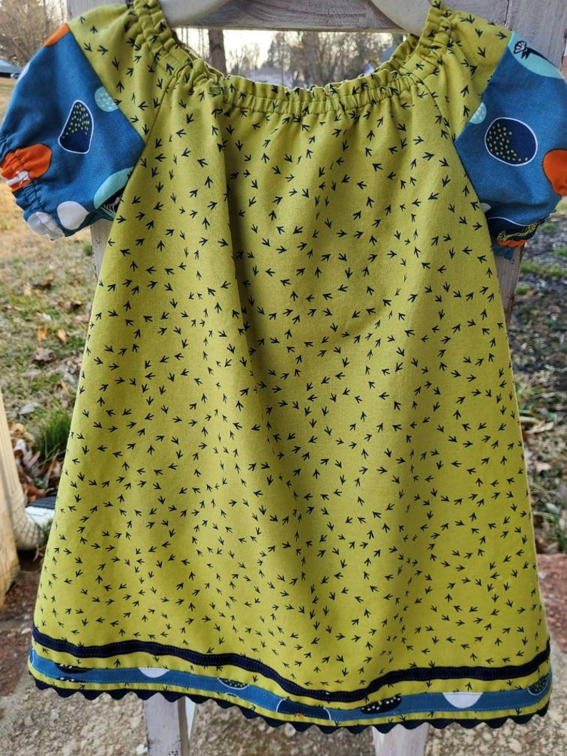 One-of-a-kind Chicken Tracks Boutique Dress with Coordinating Bloomers size 6-12m