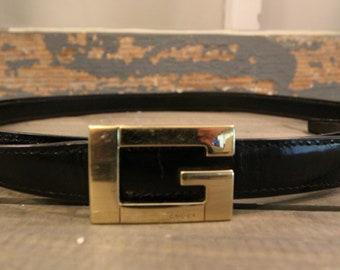 3cbb9eab85d Black Leather Gucci Belt