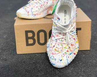9a439181b1d1a Custom Paint Splattered Yeezy s