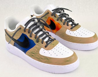 eb887549936 US Military Custom Hand Painted Nike Air Force 1 Sneakers - Army   Marines  Theme