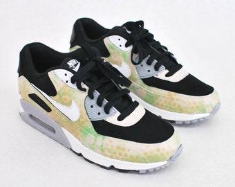 the latest c2155 fe314 Custom Camo Nike Air Max 90 Running Shoes - Hand Painted Nike AM90 - Custom  Sneakers