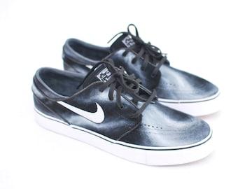 watch af5bc cc8e6 Hand Painted Smoke Nike Stefan Janoski skate shoes