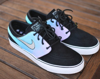 e407e0003e Pastel Color Tie Dye Nike Zoom Stefan Janoski Sneakers - Custom Hand  Painted Shoes - Nike SB - Painted Color Ombre Gradient