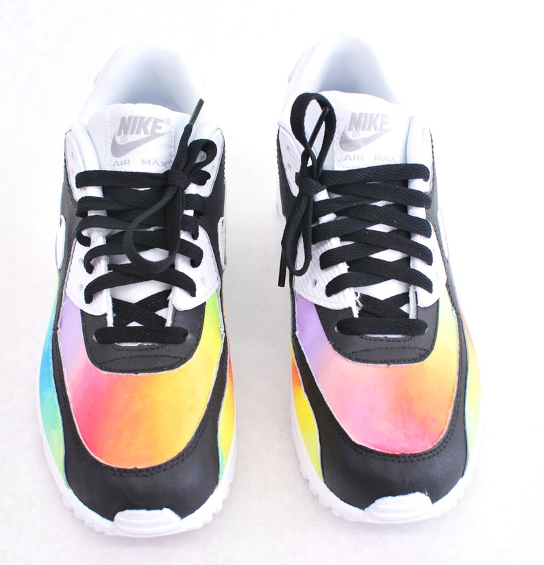 reputable site caa58 bf13c Custom Hand-Painted Color Blast Nike Air Max 90 Running Shoe   Etsy