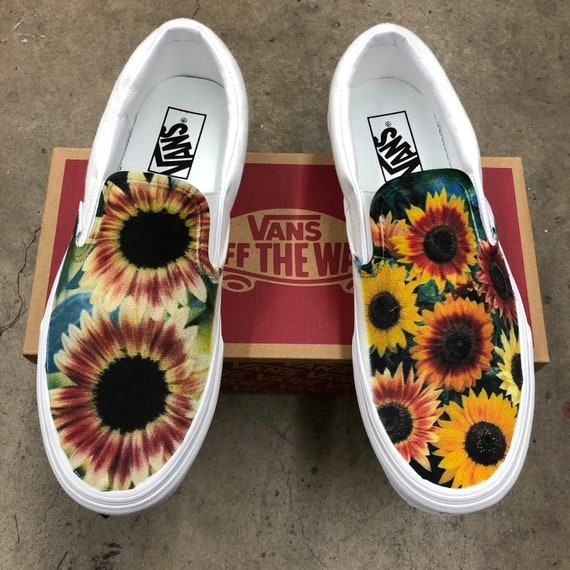 Sunflower Vans Slip On Shoes for Women