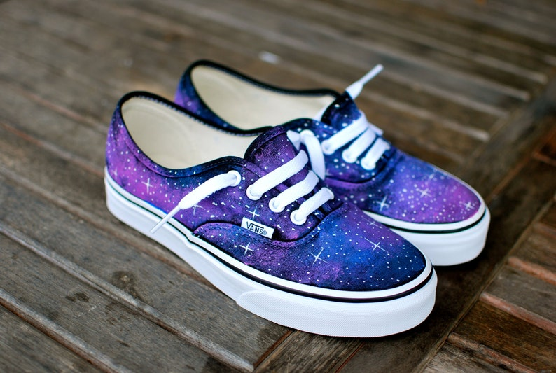 66f5f407b6da Galaxy Vans Shoes Custom Hand Painted Galaxy on Vans