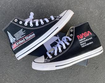 NASA Chucks Custom Black High Top Converse