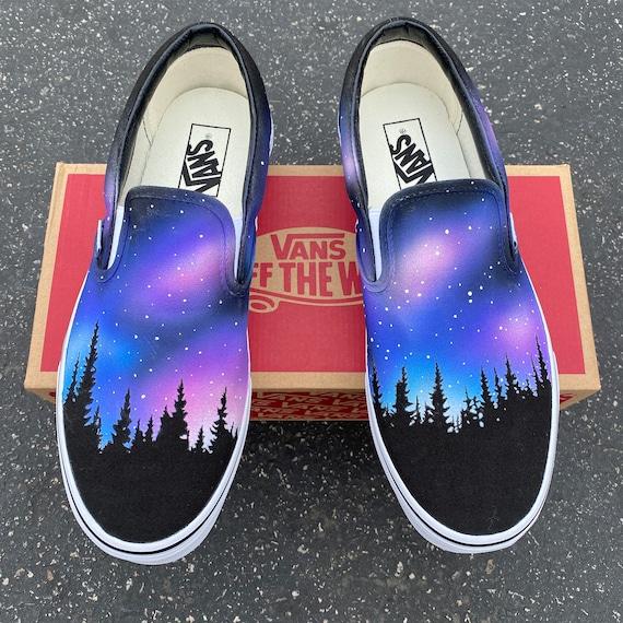Benutzerdefinierte bemalt Galaxy Vans Schuhe von Hand bemalt Galaxy Vans Galaxy Schuhe