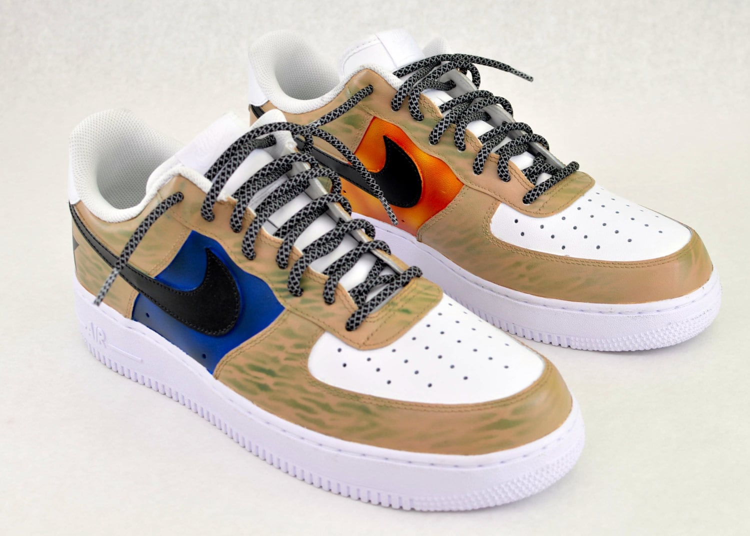 reputable site 70774 fc6ed Nike Air Force 1 Sneakers Army   Marines Theme de peintes à   Etsy