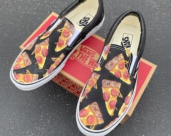 Pizza Vans Slip On Shoes