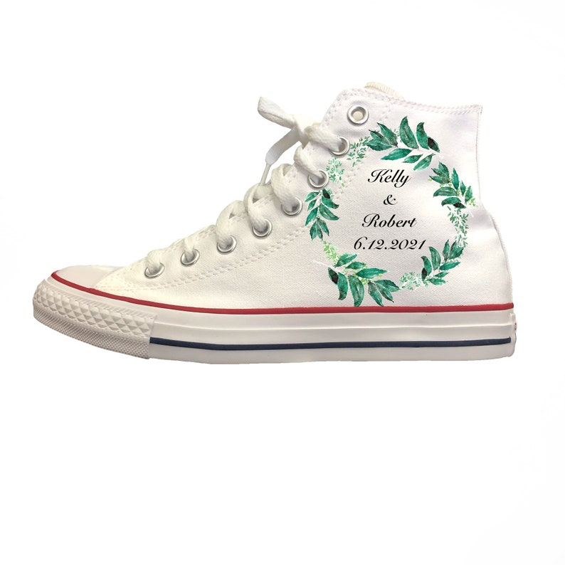 White Converse High Top Women's Wedding Shoes