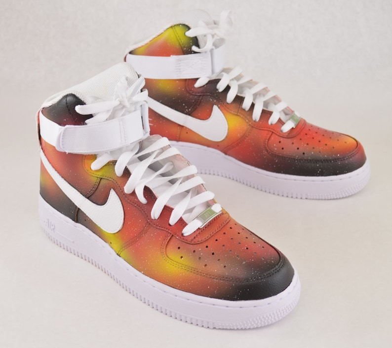 2bc1d3d8a3dbc Custom Solar Flare Galaxy Nike Air Force 1 Hand Painted