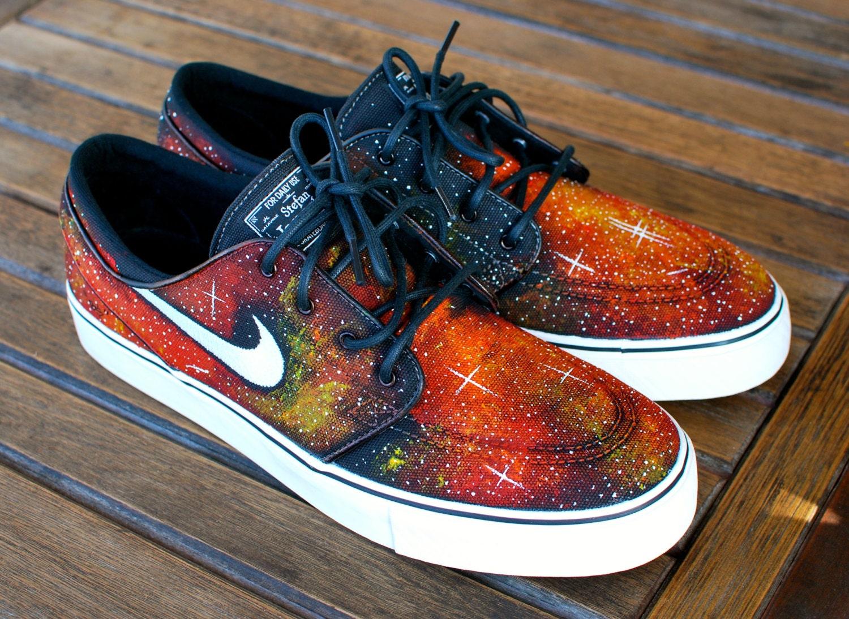 9254c02b5096 Nike Zoom Stefan Janoski Solar Flare Galaxy Skate Shoes