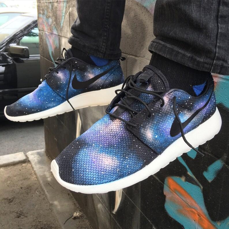 1827b7b3774f Galaxy Roshe One Custom Hand Painted Nike Sneakers