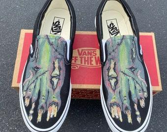 Custom Slip On Vans - Zombie Feet Vans