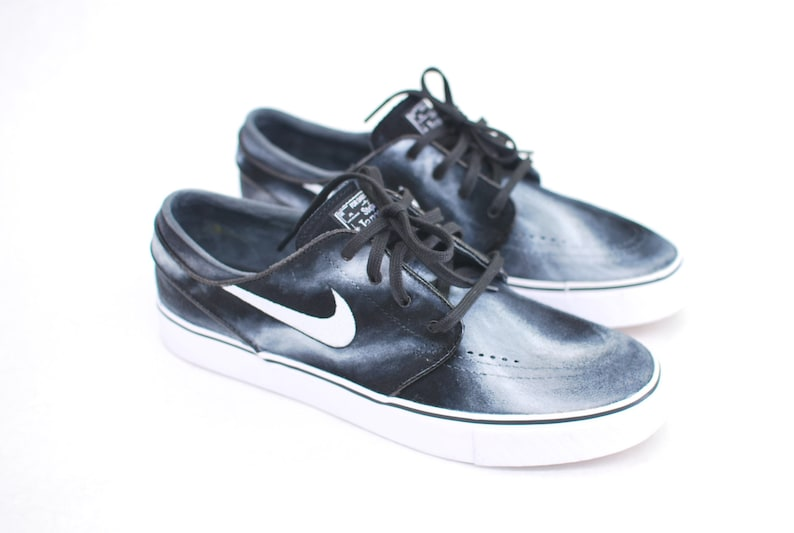 44100d3d9813 Hand Painted Smoke Nike Stefan Janoski skate shoes