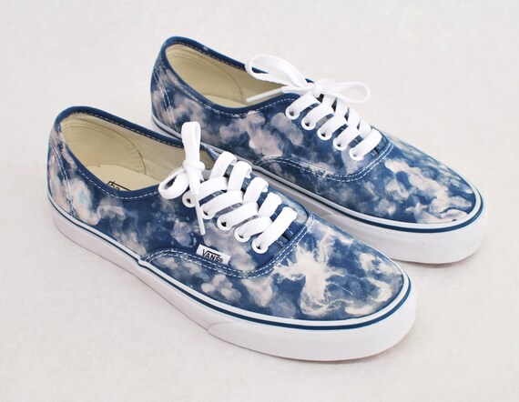 926d9ce138 Items similar to Navy Bleach Washed Vans Authentic on Etsy