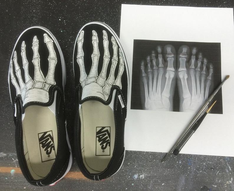 6cf1b5ea skeleton vans shoes etsy