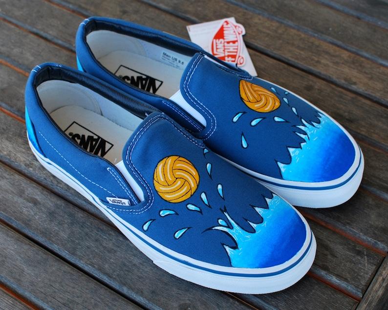 f893681845589c Custom Water Polo Vans shoes