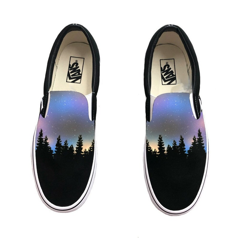 f6e36fd511 Custom Hand Painted Galaxy Slip On Vans Nebula Outter Space