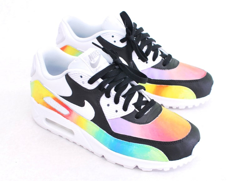 the latest 27370 18325 Custom Hand-Painted Color Blast Nike Air Max 90 Running Shoe