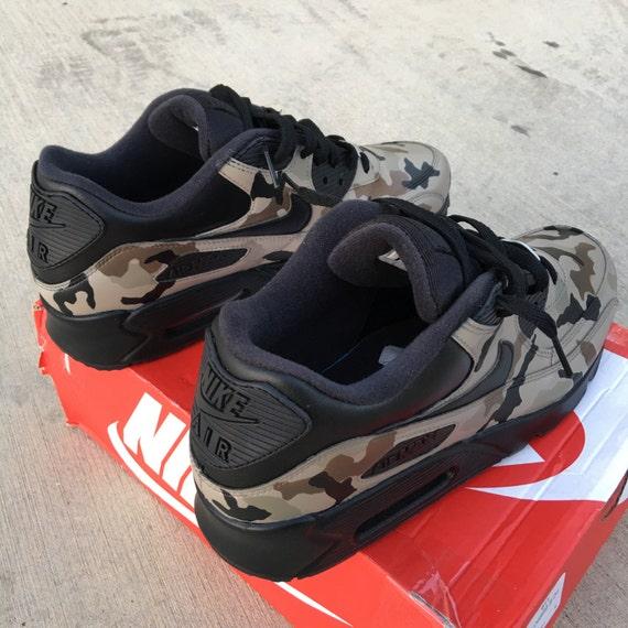 Camouflage Nike Air Max 90 Custom Painted Sneakers 'Desert Camo