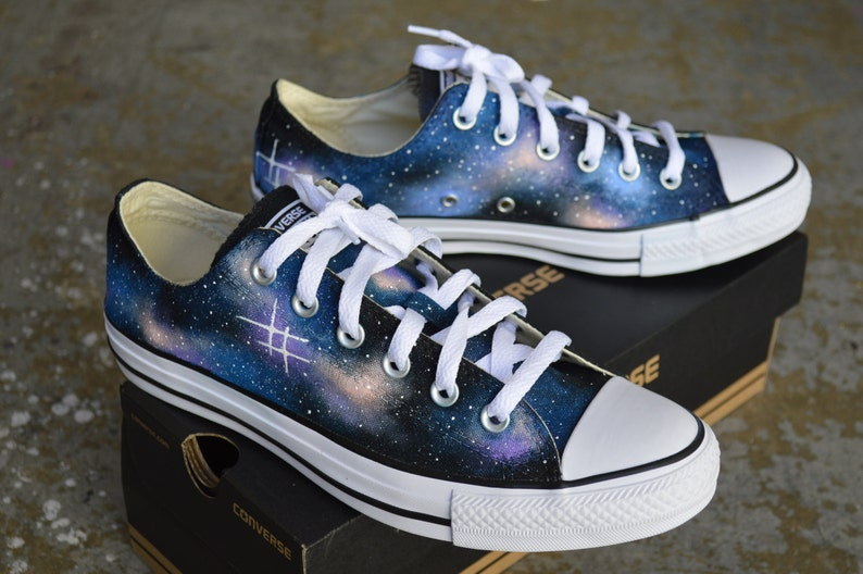 cc9255bc4094 Hand Painted Galaxy Chuck Taylor All Star Converse Low tops