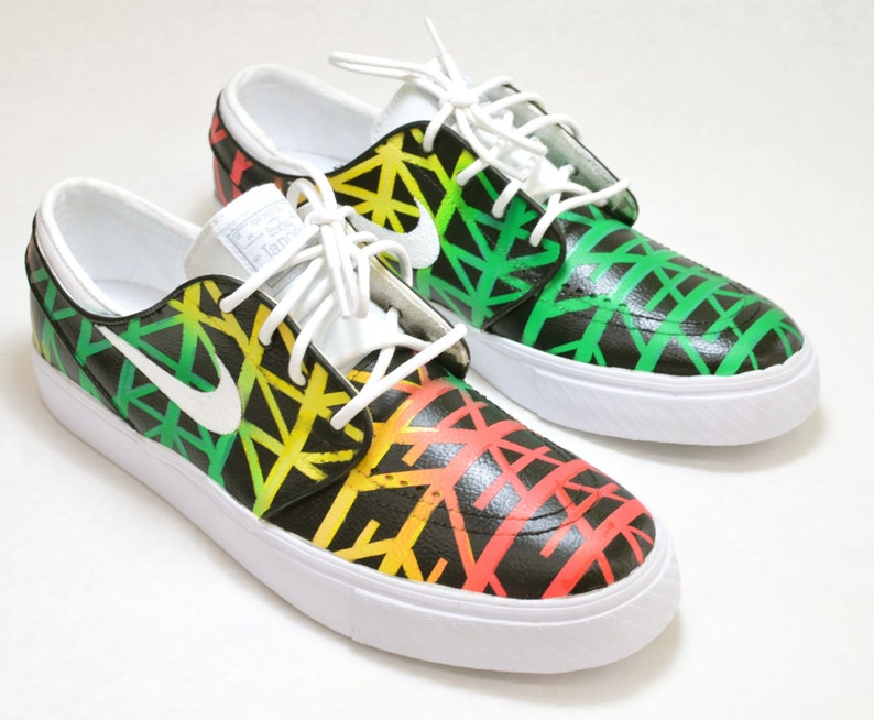 2b3230e56471 Tribal Pattern Nike SB Stefan Janoski Custom Hand Painted