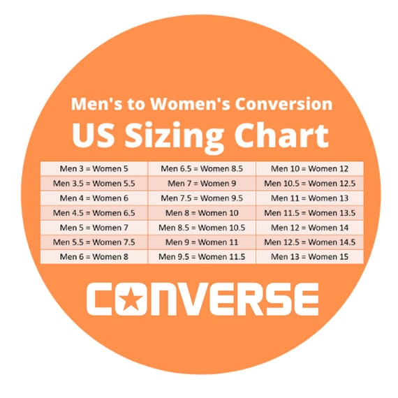 womens converse clothing size chart