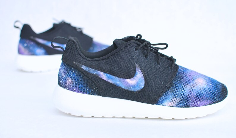 abad3c63703f4 Custom Galaxy Nike Roshe Run Hand Painted Blue Galaxy on