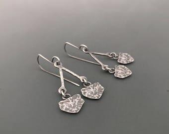 Sterling Silver earrings, Cypress I seedpod Earrings, dangle, gift, Nature inspired jewelry