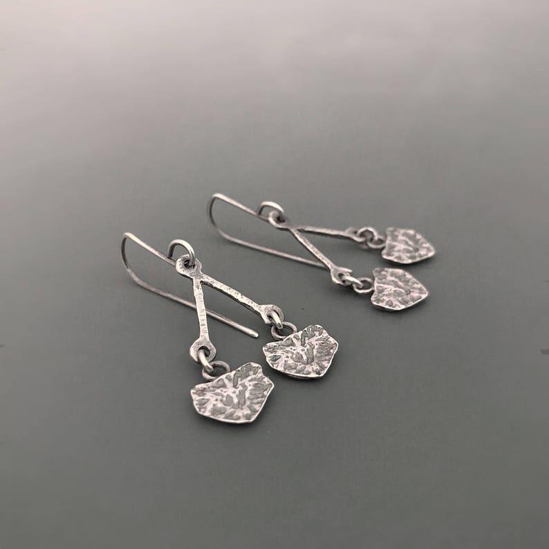 Sterling Silver earrings Cypress I seedpod Earrings dangle image 0