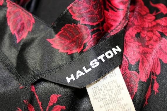 Vintage Nightgown Slip Dress Nylon Long Black and… - image 5