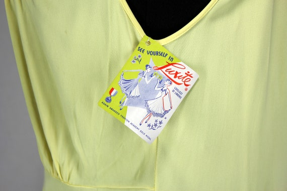 Vintage Luxite Yellow Nightgown NOS 36 - image 6