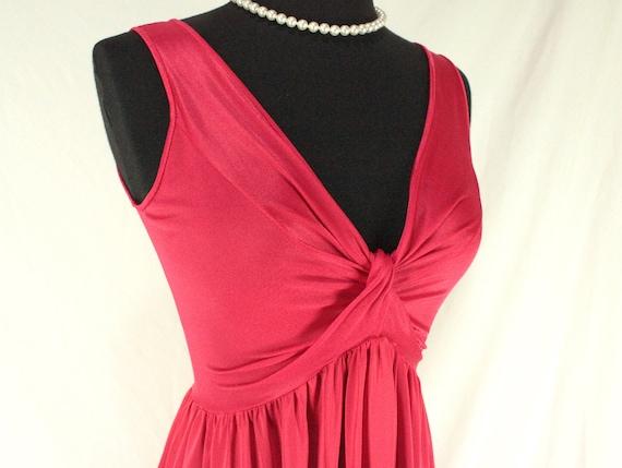 Vintage Olga Red Bodysilk Nightgown Medium Style 9