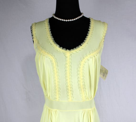 Vintage Luxite Yellow Nightgown NOS 36 - image 1