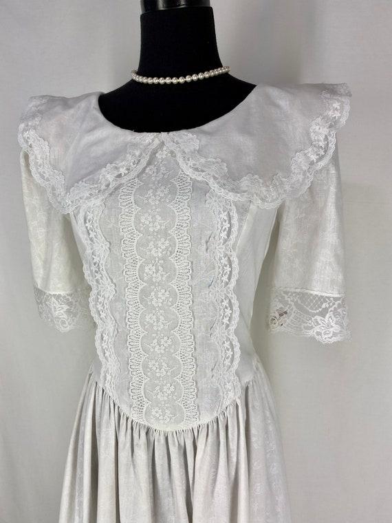 Vintage Jessica McClintock Gunne Sax White Dress 7