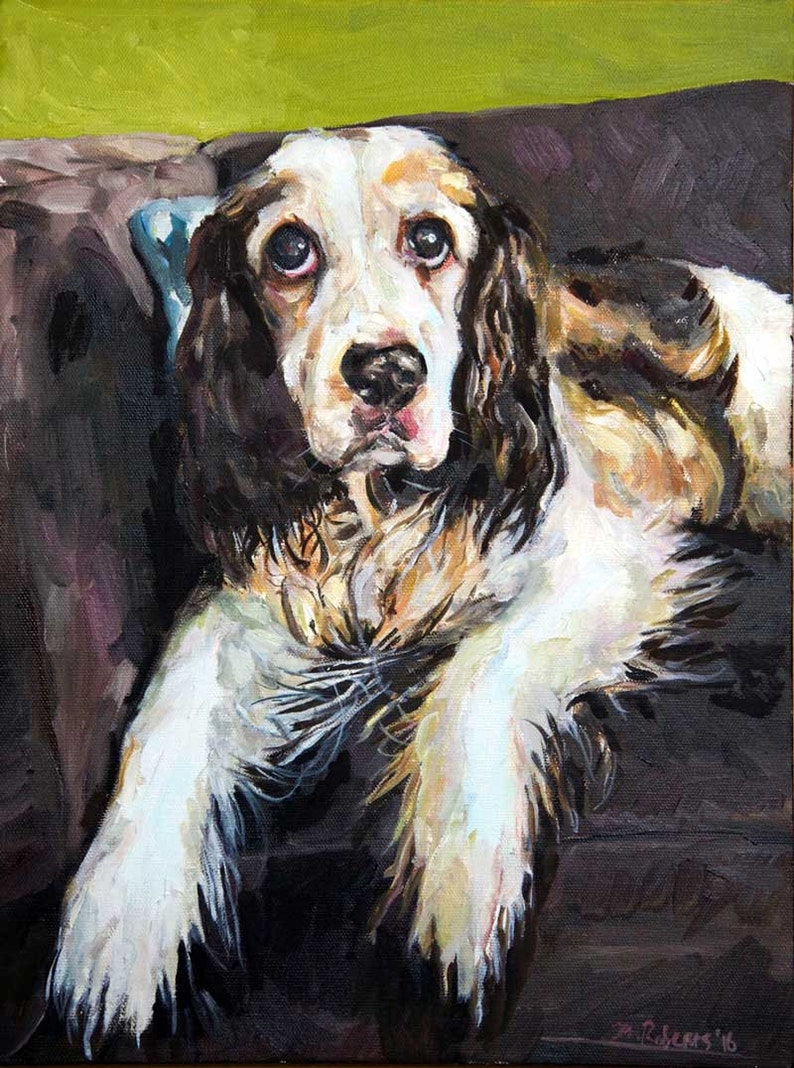 Custom Pet Portrait Oil Painting 12x16 inch image 0