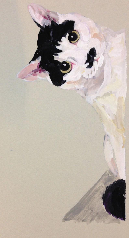 Custom pet portrait Illustration gouache watercolor on paper image 0