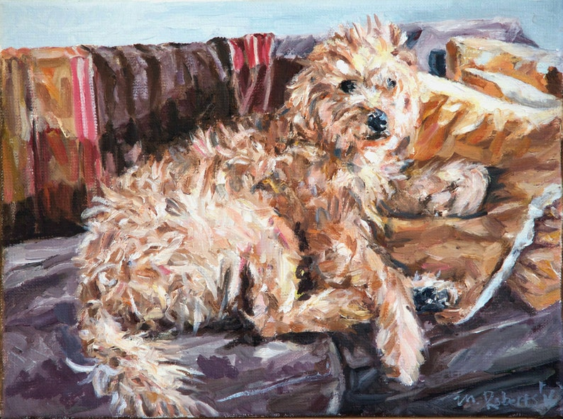 Custom Pet Portrait Oil Painting 12x16 inch Commissioned image 0