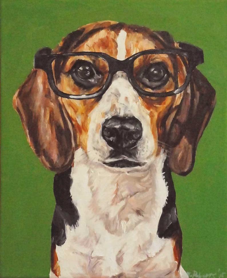 CUSTOM Pet Portrait Oil Painting 16x20 pet memorial birthday image 0