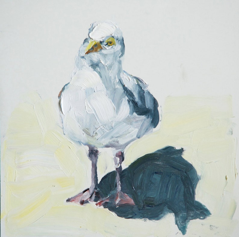 READY TO SHIP Original seagull oil painting image 0