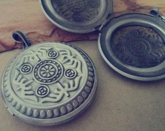 2pcs of Antique silver  (copper) box charm pendant  45mm