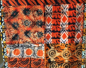 African Home Decor//African Art Quilt Wallhanging//African Wall Art//AKWAABA//Free Shipping